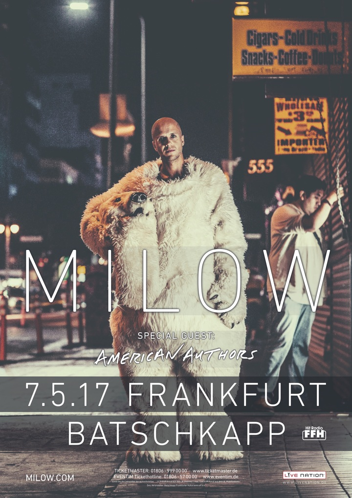 Milow @ Batschkapp - Frankfurt Am Main, Germany