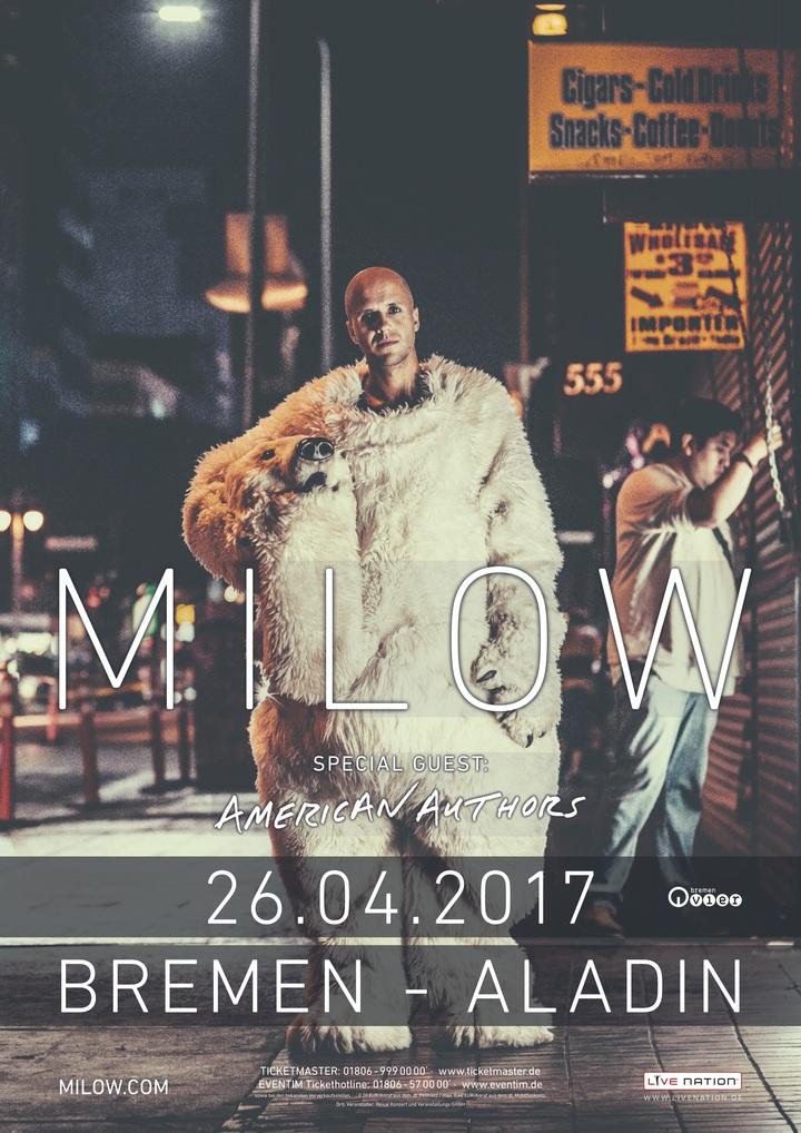 Milow @ Aladin - Bremen, Germany