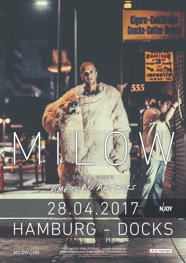 Milow @ Docks - Hamburg, Germany