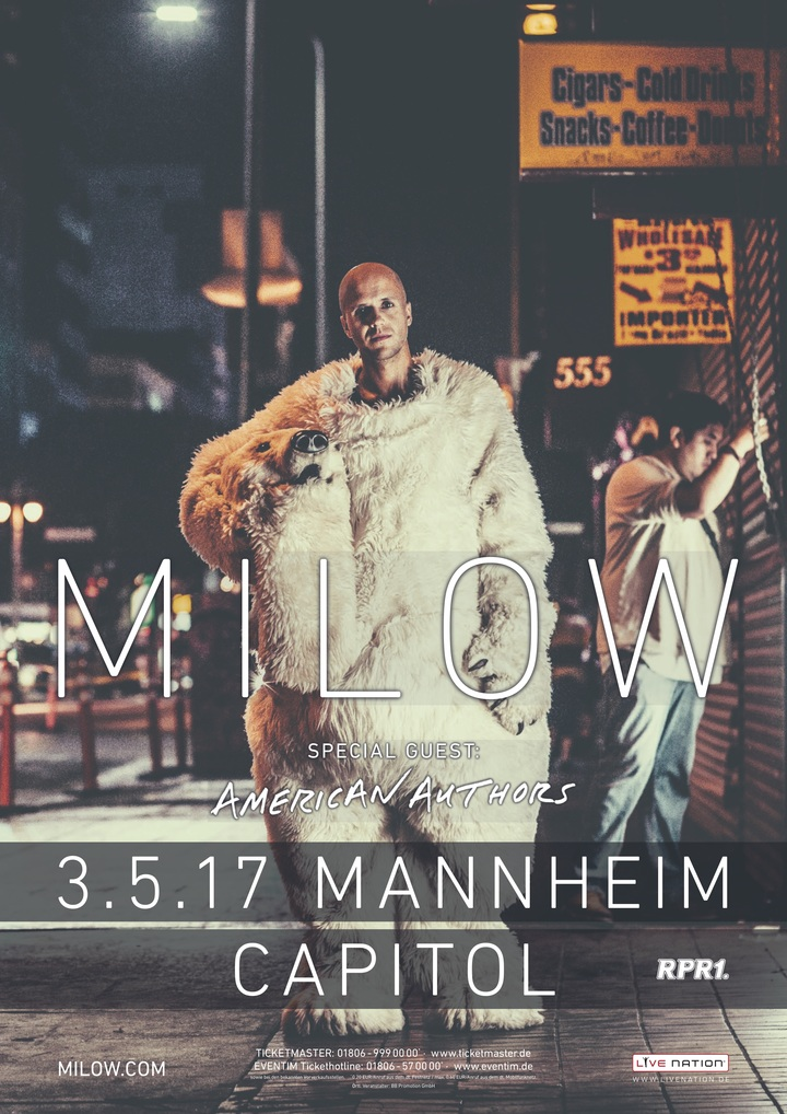 Milow @ Capitol - Mannheim, Germany