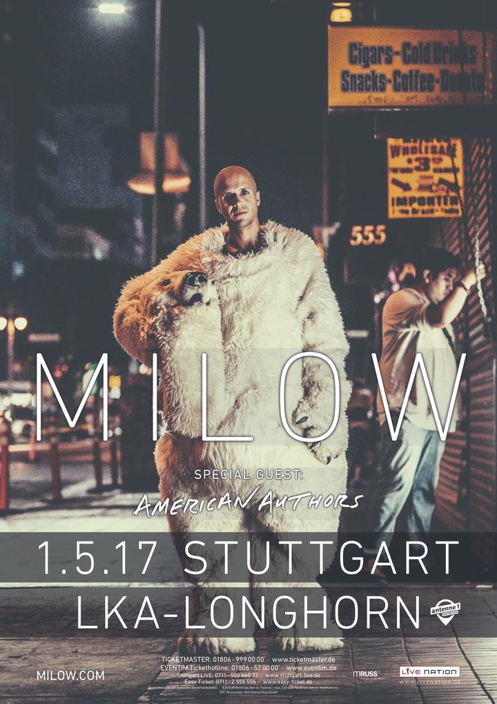 Milow @ LKA Longhorn - Stuttgart, Germany