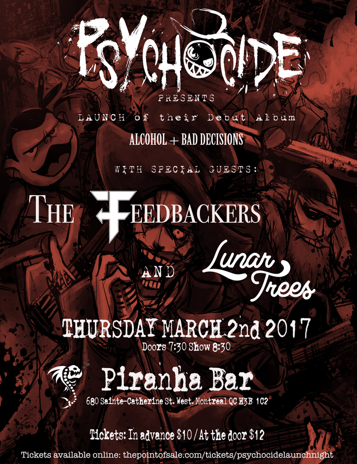 Psychocide @ Piranha Bar - Montreal, Canada