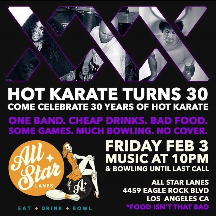 Hot Karate Tour Dates