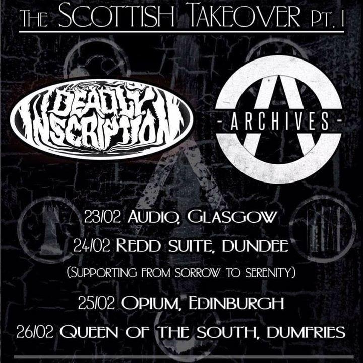 Deadly Inscription Tour Dates