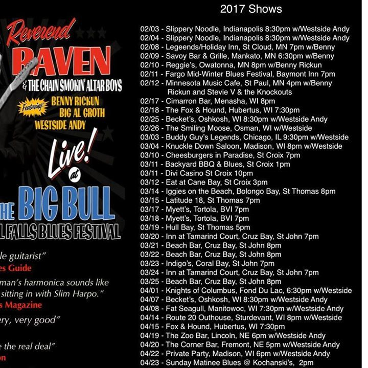 Reverend Raven Tour Dates