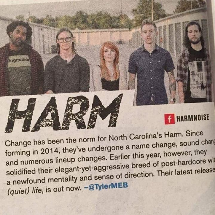 Harm Tour Dates