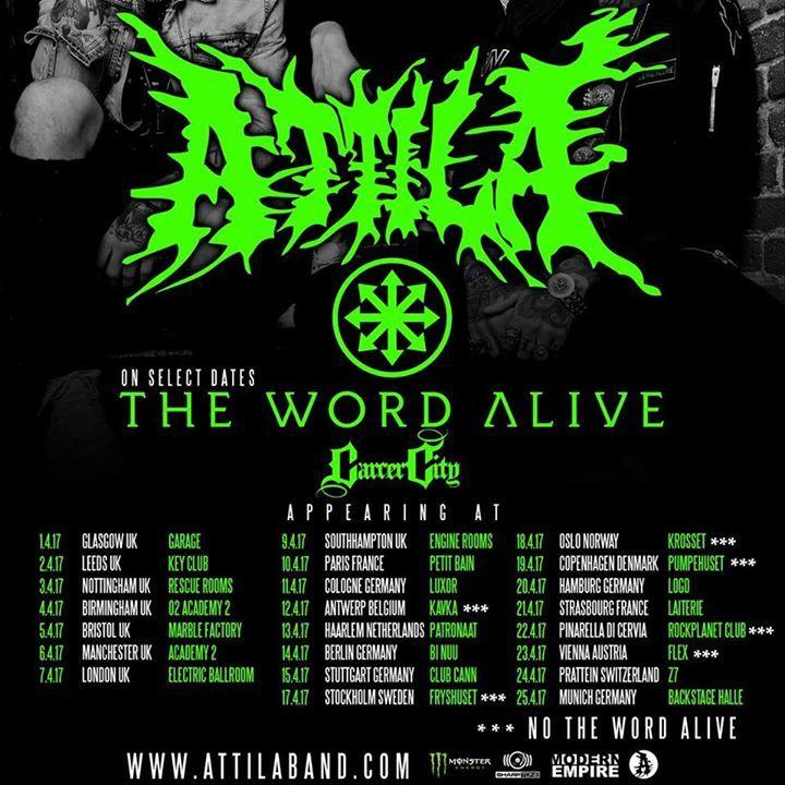 Carcer City Tour Dates