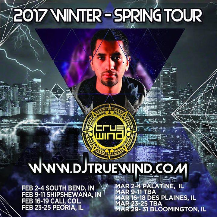 DJ TrueWind Tour Dates