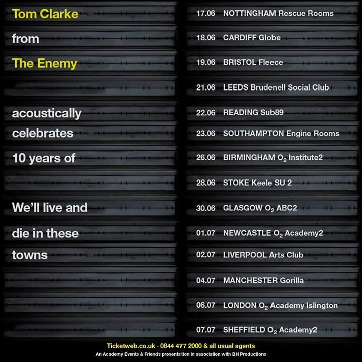 The Enemy Tour Dates