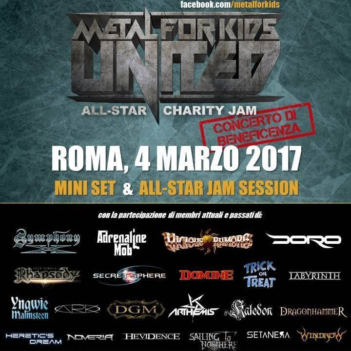 Arthemis Official Page @ METAL FOR KIDS All Star Jam @ CrossRoads Live Club - Roma, Italy