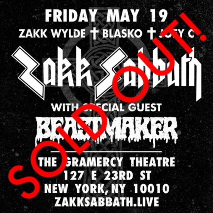 Zakk Wylde @ The Gramercy Theatre - New York, NY