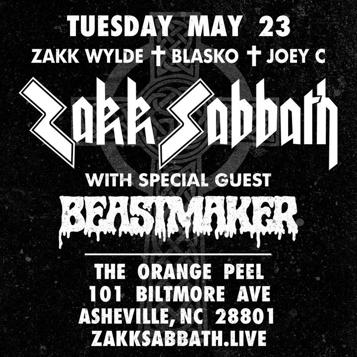 Zakk Wylde @ The Orange Peel - Asheville, NC