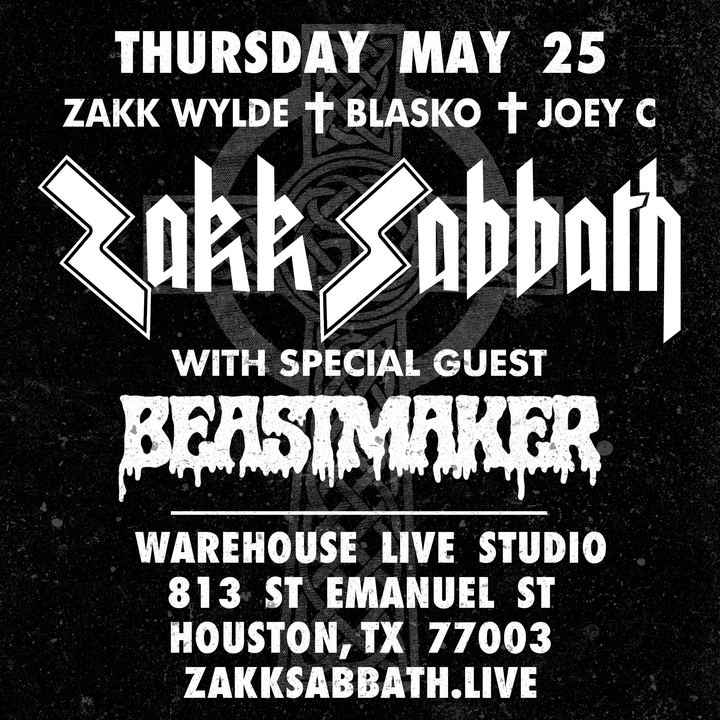 Zakk Wylde @ Warehouse Live Studio - Houston, TX