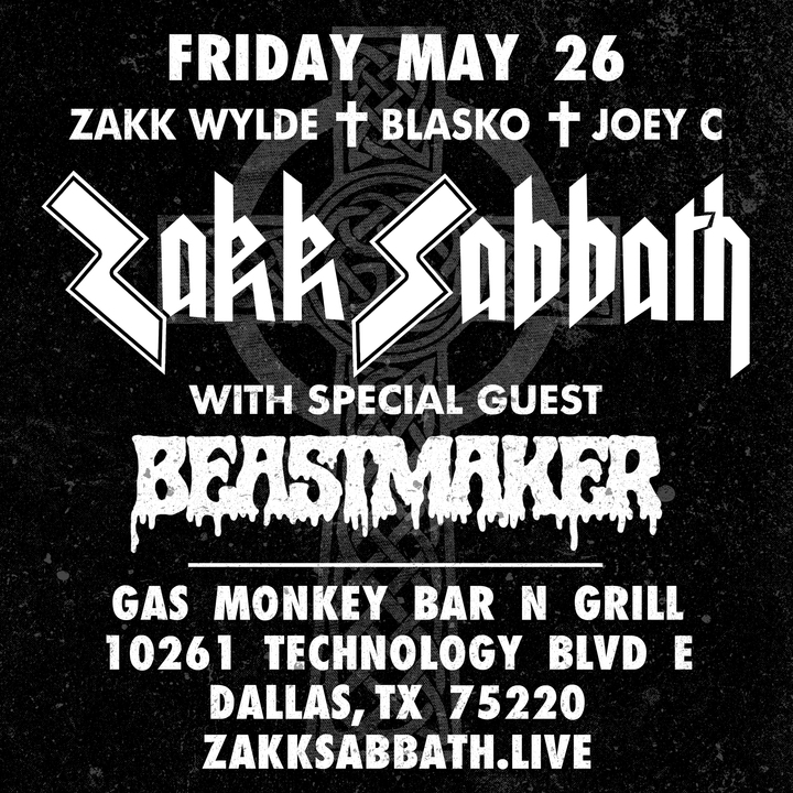Zakk Wylde @ Gas Monkey Bar N' Grill - Dallas, TX