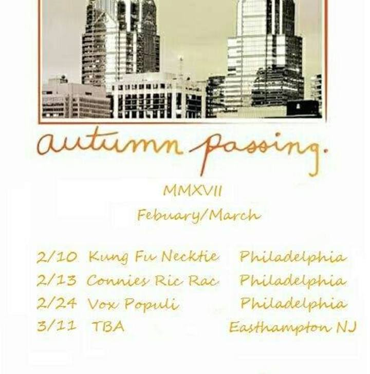 Autumn Passing Tour Dates