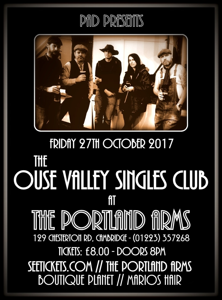 The Ouse Valley Singles Club @ The Portland Arms - Cambridge, United Kingdom