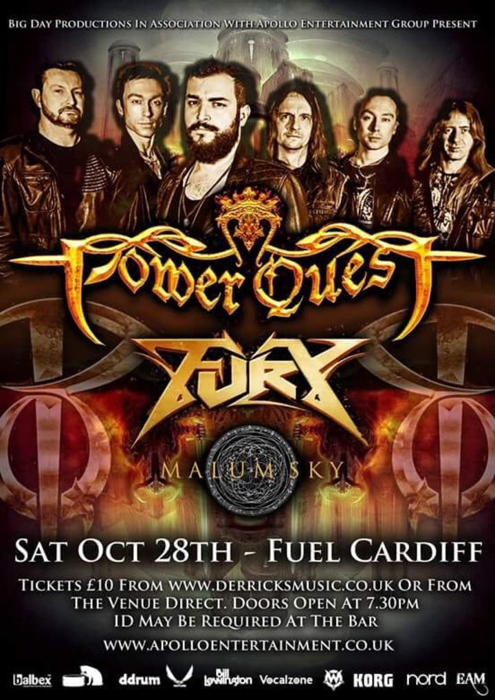 Power Quest @ Fuel - Cardiff, United Kingdom