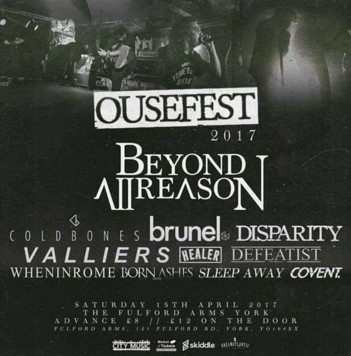 Beyond All Reason Tour Dates