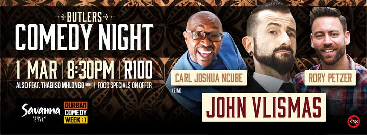 Carl Joshua Ncube @ Butlers  Comedy  Club  - Hillcrest, South Africa