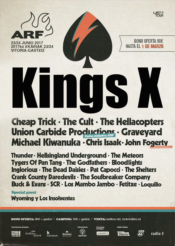 King's X @ Azkena Rock Festival - Vitoria-Gasteiz, Spain
