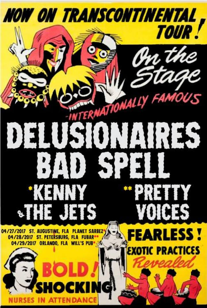 The Delusionaires Tour Dates