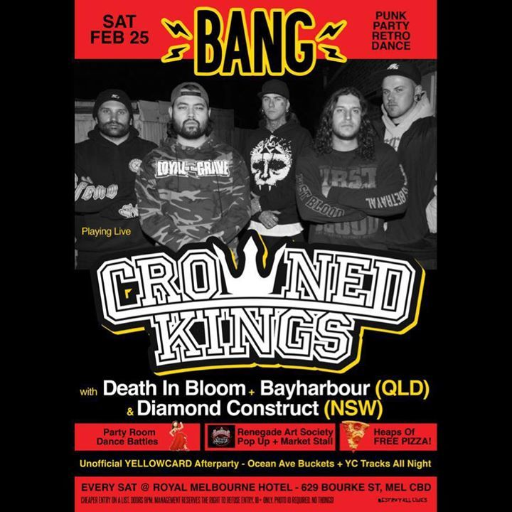 CROWNED KINGS Tour Dates