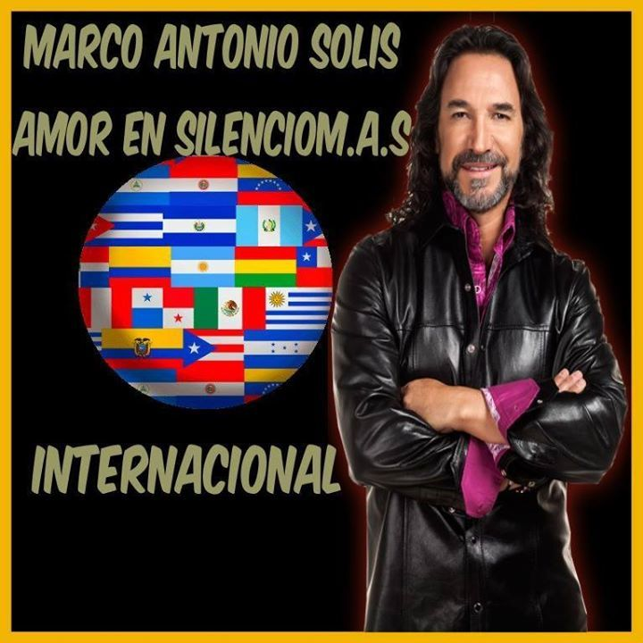 Marco Antonio Solis - Amor en silencioM.A.S Tour Dates