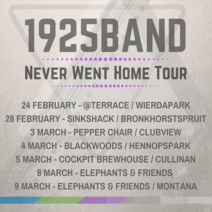 1925 Tour Dates