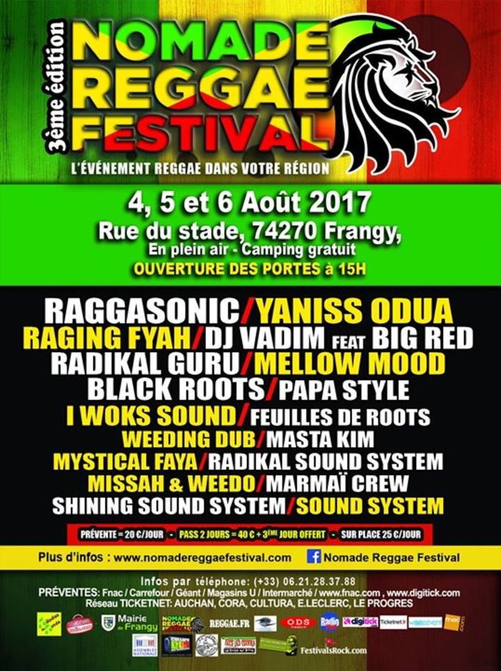 Nomade Reggae Festival Tour Dates