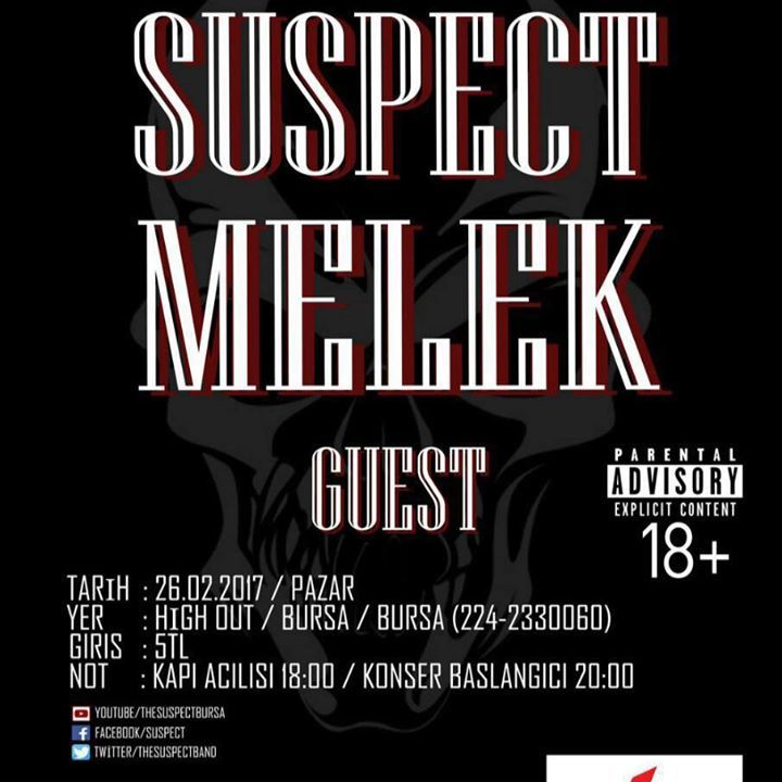 Suspect Tour Dates