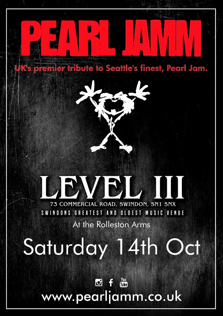 Pearl Jamm @ Level 3 Club - Swindon, United Kingdom