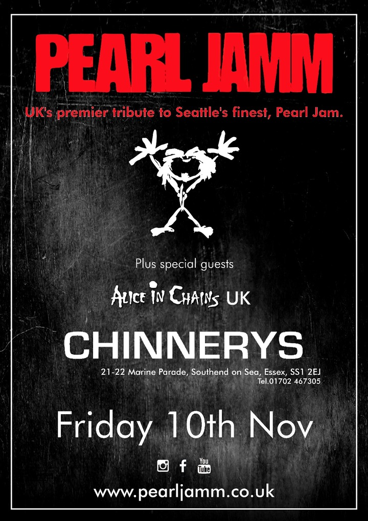 Pearl Jamm @ Chinnerys - Southend-On-Sea, United Kingdom