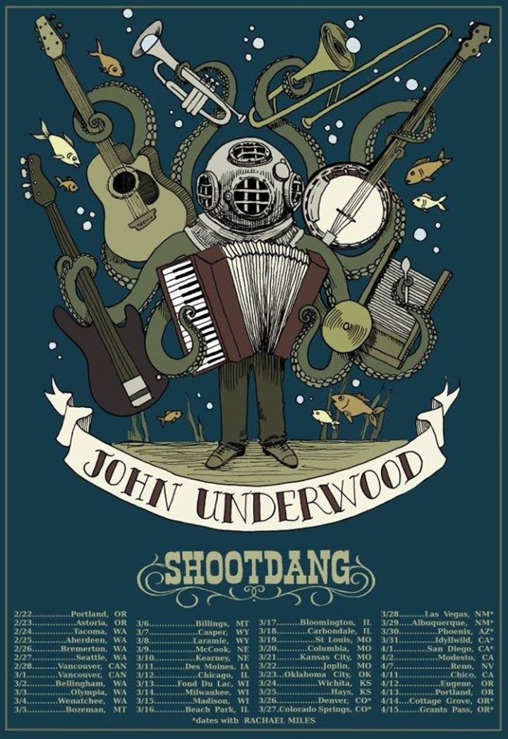 John Underwood Tour Dates