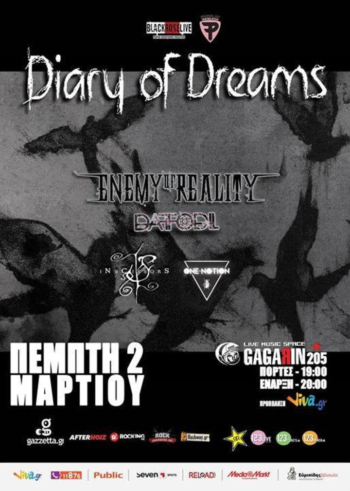 Enemy Of Reality Official Tour Dates