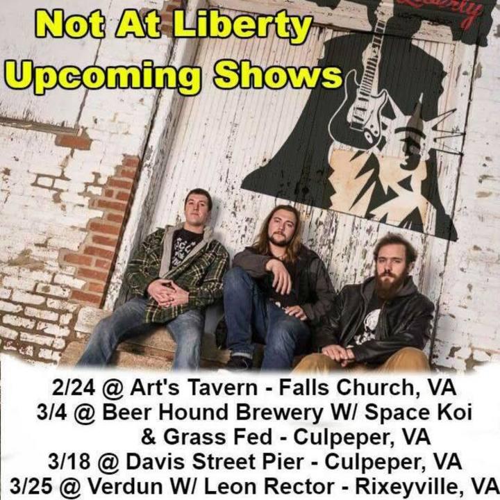 Not At Liberty Tour Dates