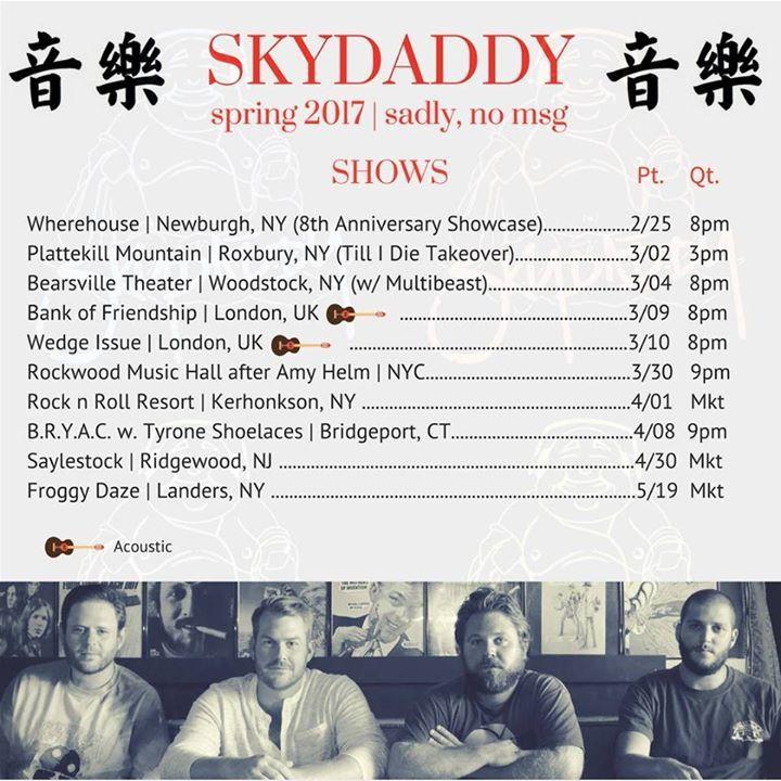 Skydaddy Tour Dates