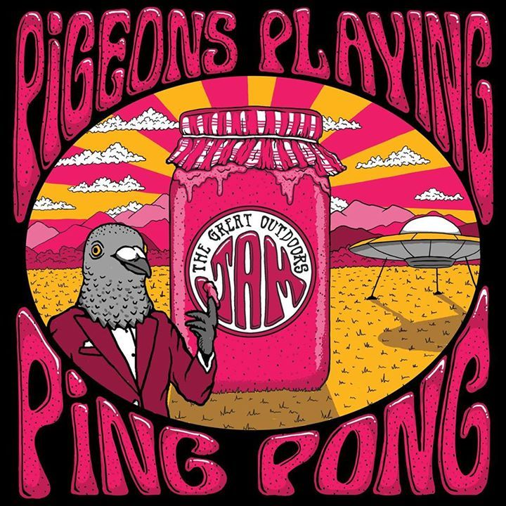 Pigeons Playing Ping Pong @ The Catalyst Atrium - Santa Cruz, CA