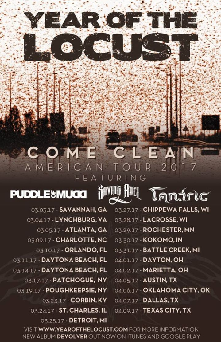 Year Of The Locust Tour Dates