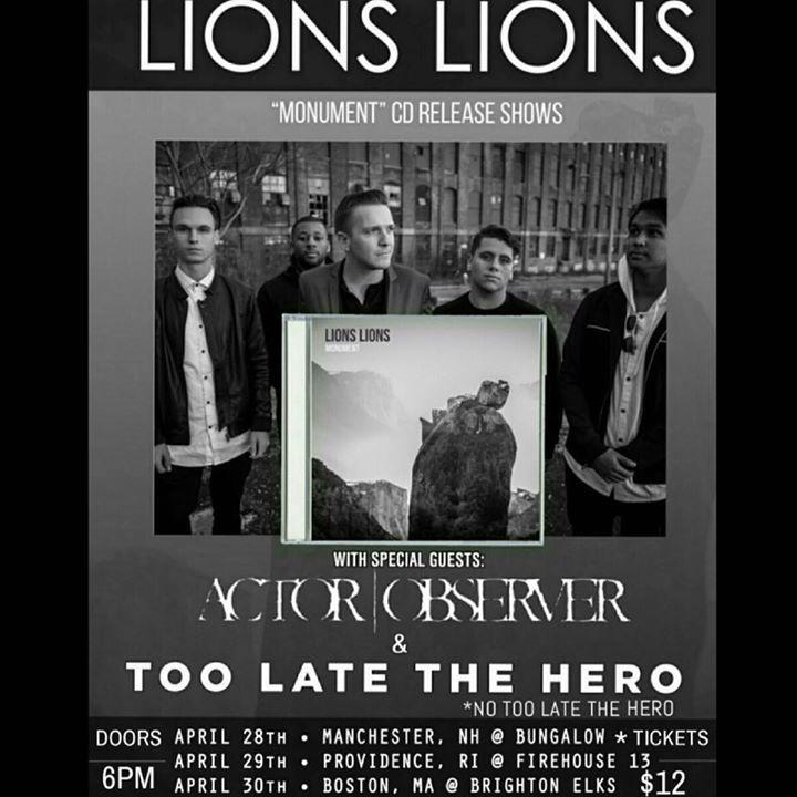 Lions Lions Tour Dates