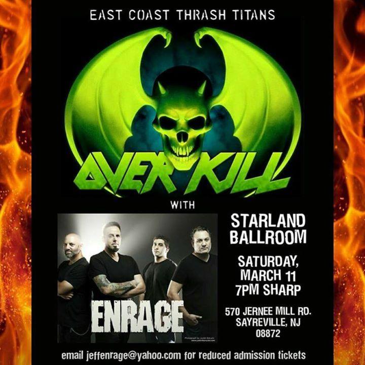 Enrage Tour Dates