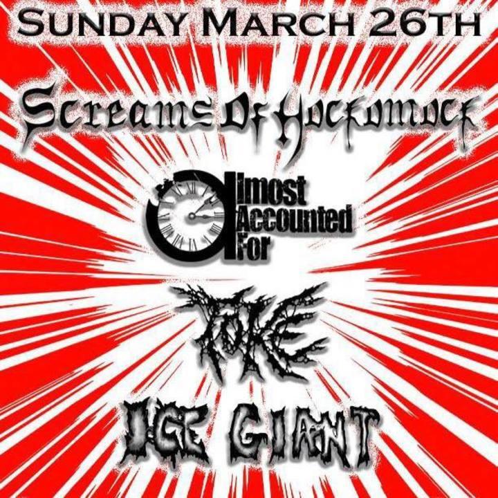 Screams Of Hockomock Tour Dates