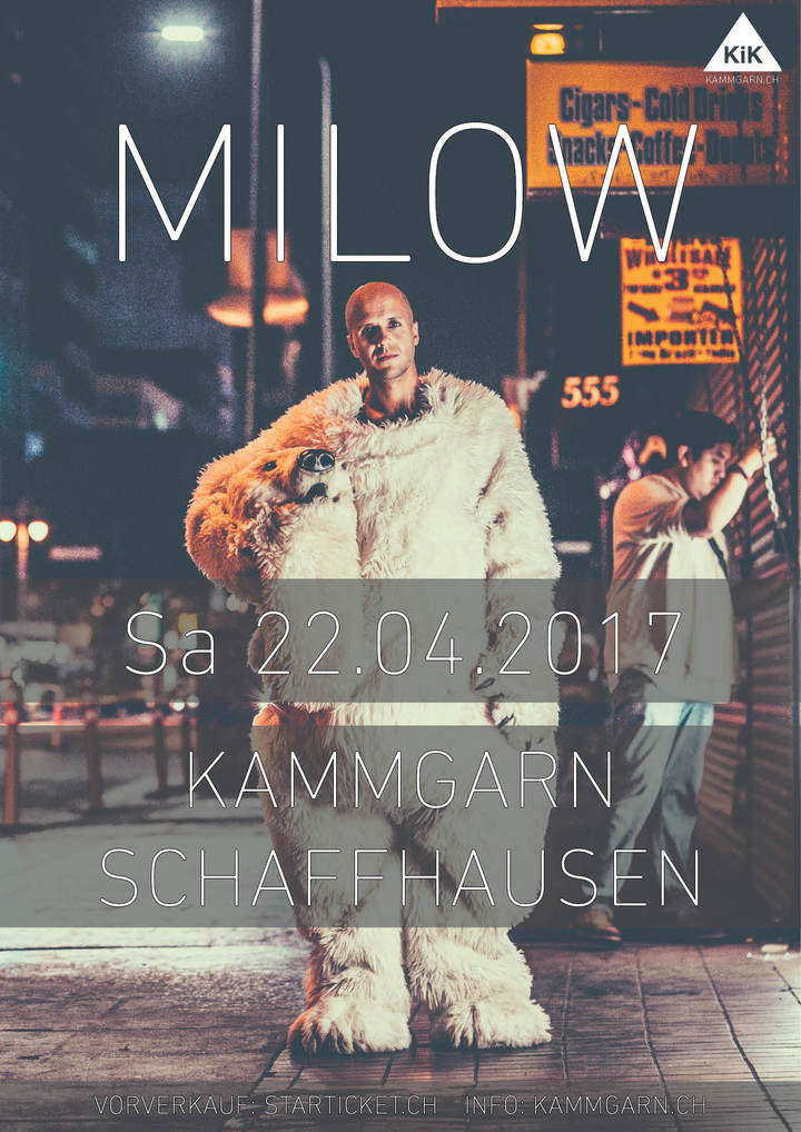 Milow @ Kammgarn - Schaffhausen, Switzerland