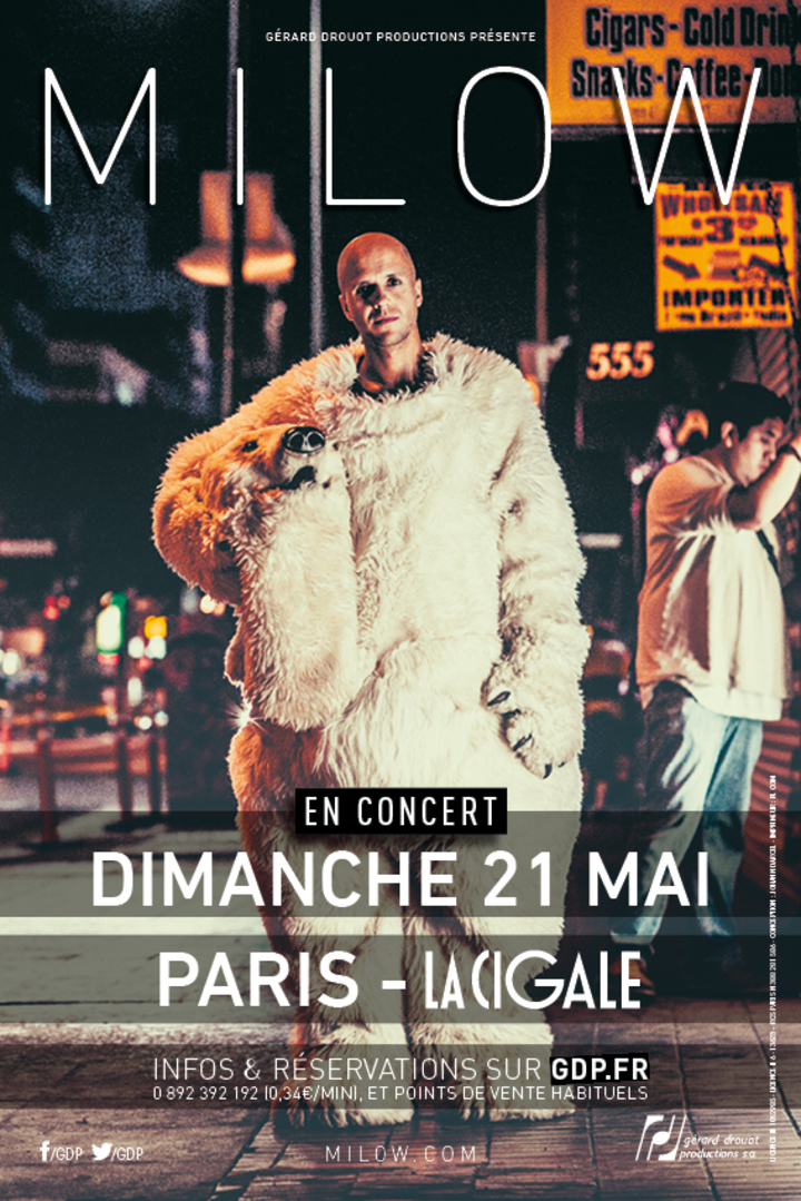 Milow @ La Cigale - Paris, France