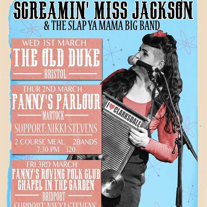 Screamin' Miss Jackson & The Slap Ya' Mama Big Band Tour Dates