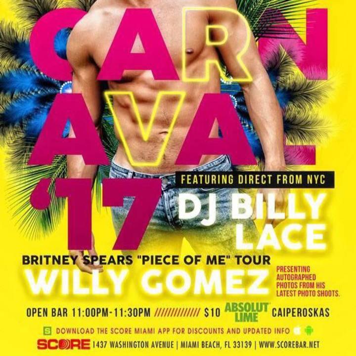 DJ Billy Lace Tour Dates
