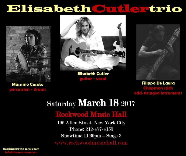 Elisabeth Cutler @ Rockwood Music Hall - New York, NY