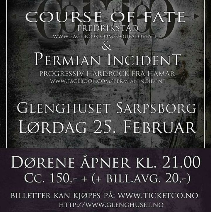 Course of Fate Tour Dates