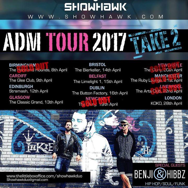 The ShowHawk Duo Tour Dates