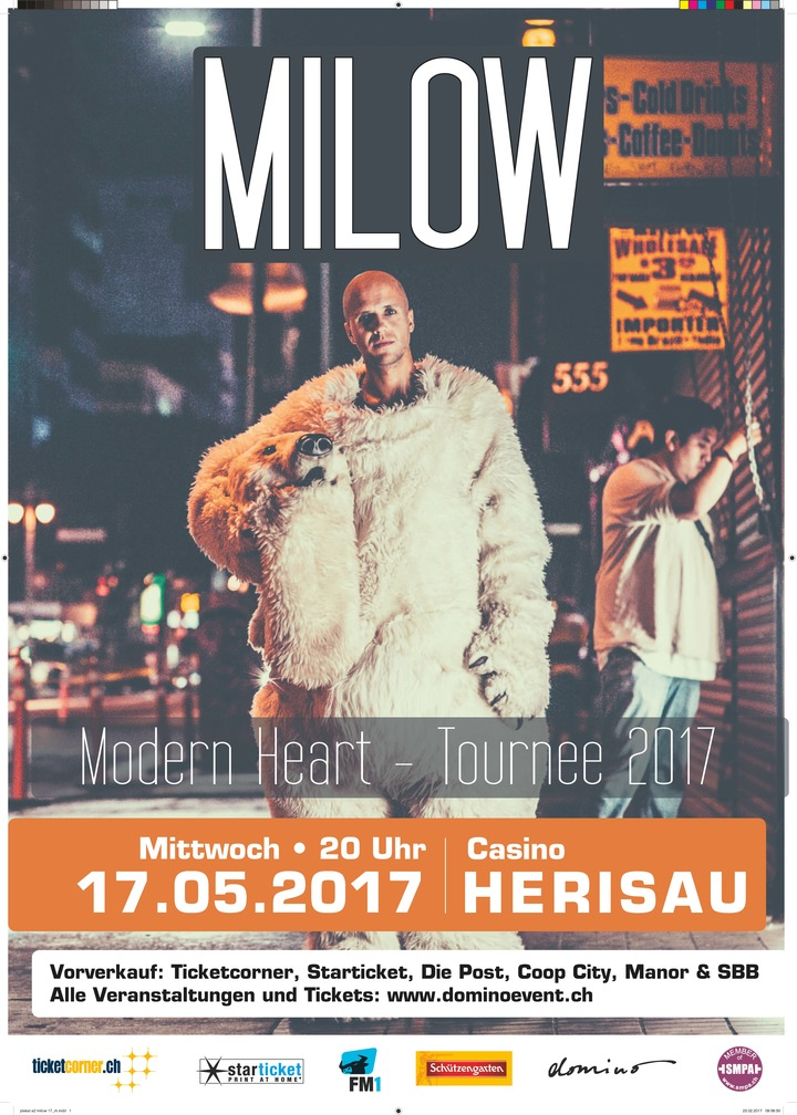 Milow @ Casino Herisau - Herisau, Switzerland