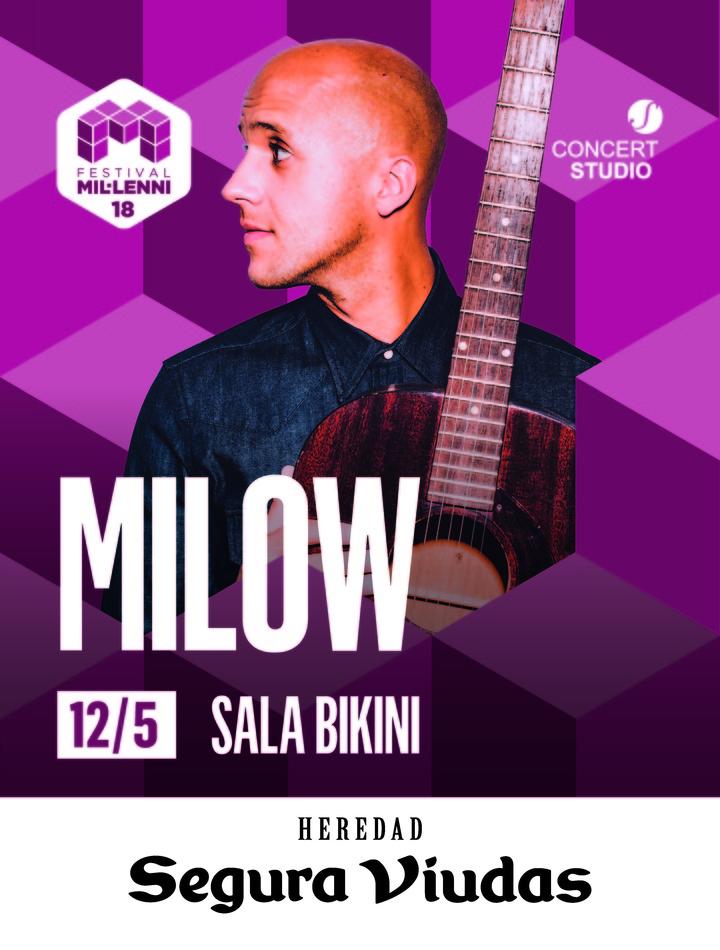 Milow @ Bikini - Barcelona, Spain